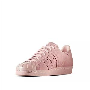 newest f260e 2d796 WOMAN'S ADIDAS SUPERSTAR 80'S METAL TOE PINK NWT